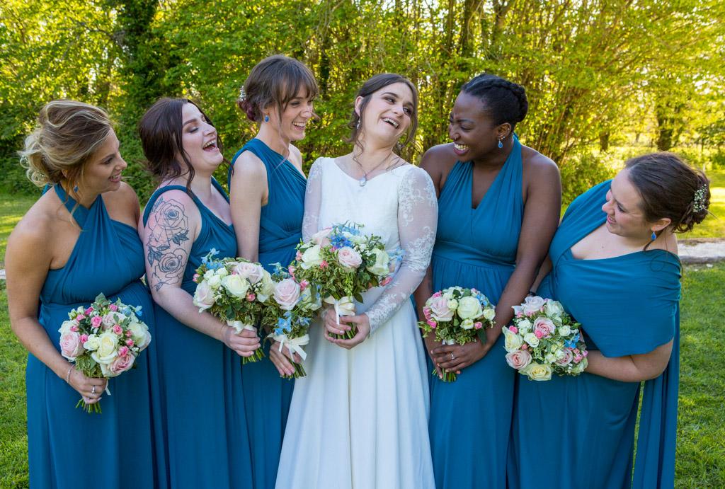 gower wedding bridesmaids