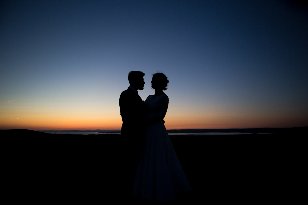gower wedding sunset