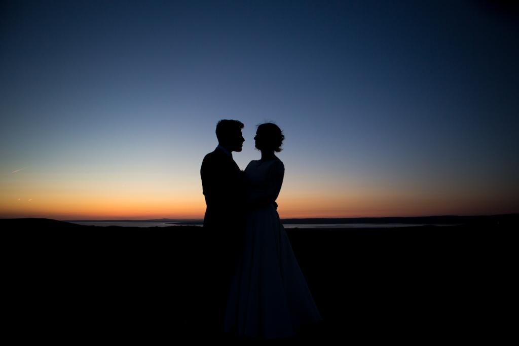 gower wedding sunset