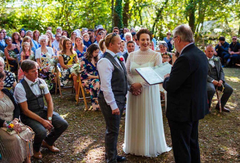 Fforest Camp wedding