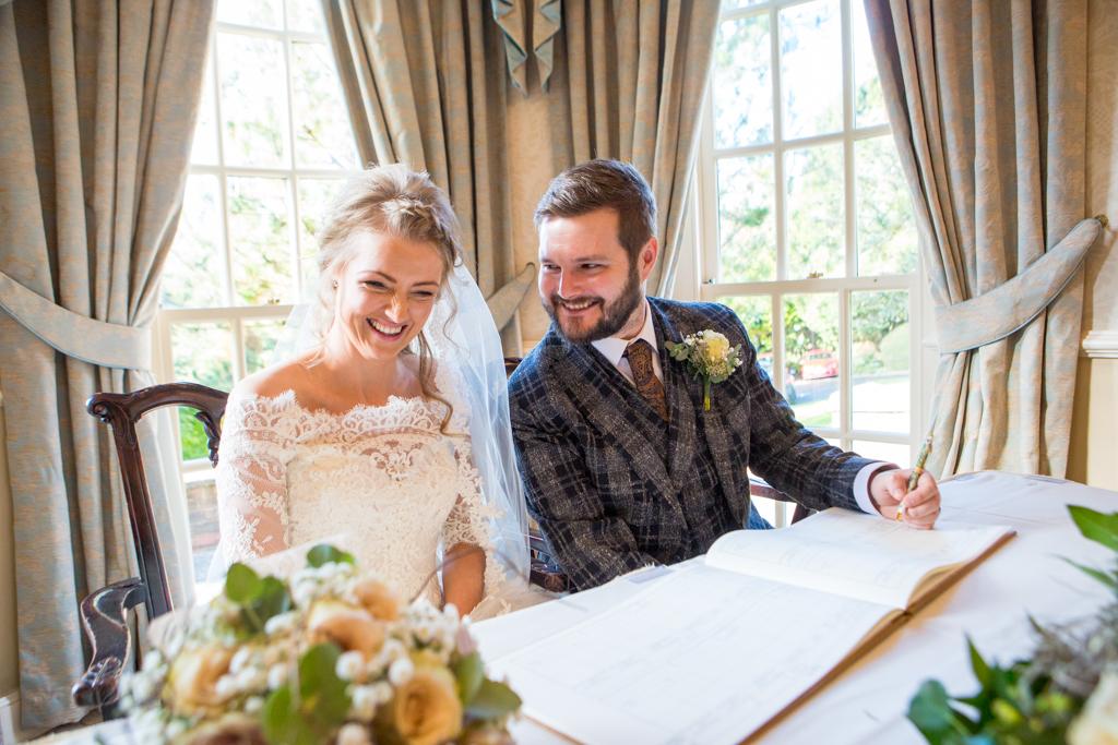 bride & groom de courceys manor cardiff