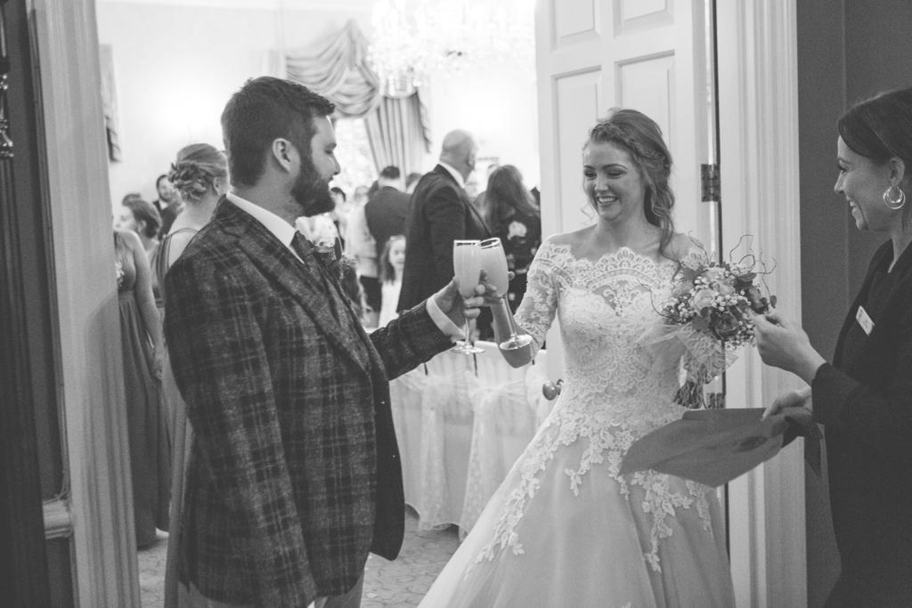 wedding drinks decourceys manor